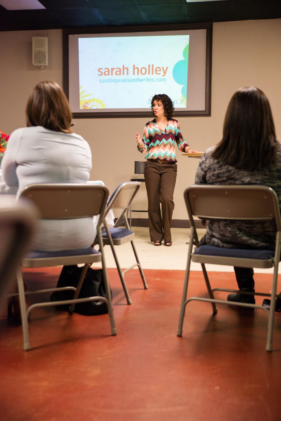 Sarah Holley teaching