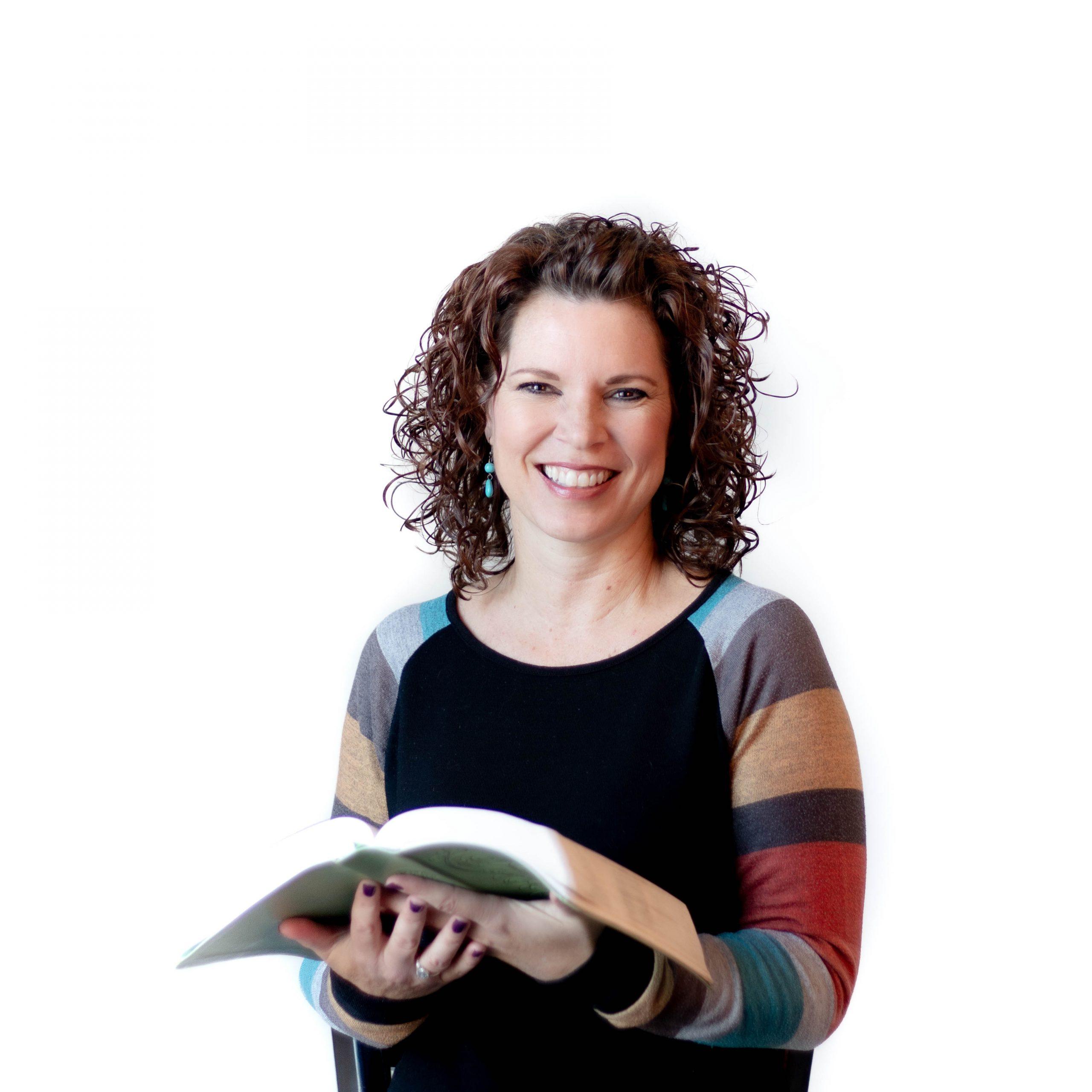 Sarah Holley holding a Bible